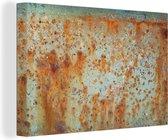 Oude boot met een roestige structuur 120x80 cm - Foto print op Canvas schilderij (Wanddecoratie woonkamer / slaapkamer)
