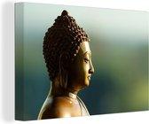 Boeddha beeld Canvas 180x120 cm - Foto print op Canvas schilderij (Wanddecoratie woonkamer / slaapkamer) XXL / Groot formaat!