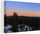 Mooie heldere lucht boven het Nationaal park Sequoia Canvas 90x60 cm - Foto print op Canvas schilderij (Wanddecoratie woonkamer / slaapkamer)