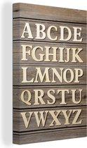 Het alfabet in hoofdletters canvas 20x30 cm - klein - Foto print op Canvas schilderij (Wanddecoratie woonkamer / slaapkamer)