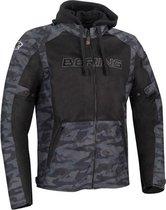 Bering Spirit Black Camo Motorcycle Jacket 3XL