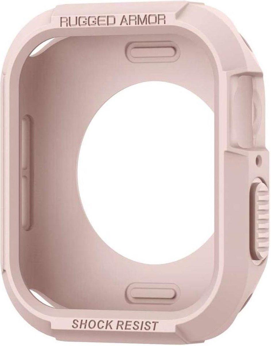 Spigen Rugged Armor Apple Watch (44mm) Case - Roze Goud kopen