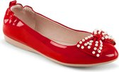 Pin Up Couture Ballerina -35 Shoes- IVY-09 US 5 Rood