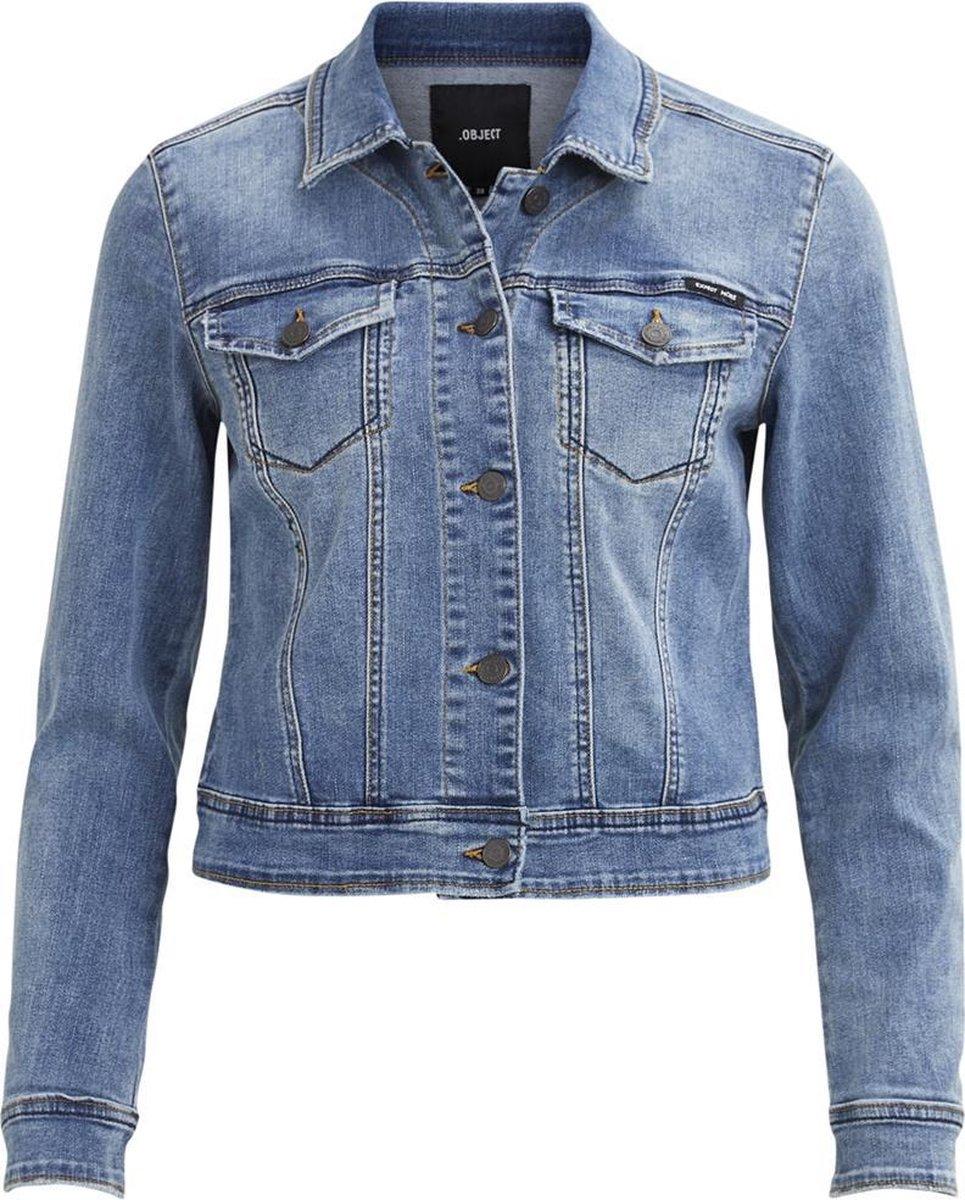 Objwin New Her Ls Denim Jacket No 23026129 Medium Blue Denim