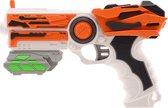 Tack Pro Shooter 2 14 Darts Blaster 23cm + Accesoires Zwart/Rood (darts incl)