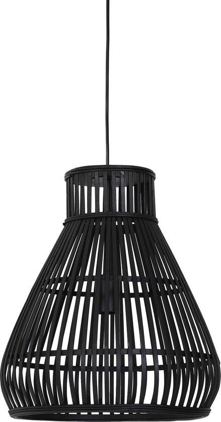 Light & Living Timaka - Rieten Hanglamp - Ø37 x 43 cm - Zwart