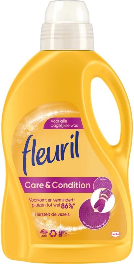 3x Fleuril Wasmiddel Care & Condition 1320 ml