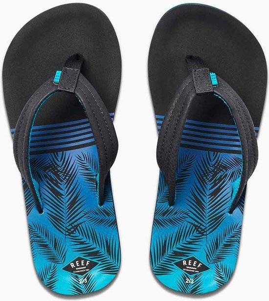 Reef Kids Ahi Jongens Slippers - Aqua Palms Maat 33/34