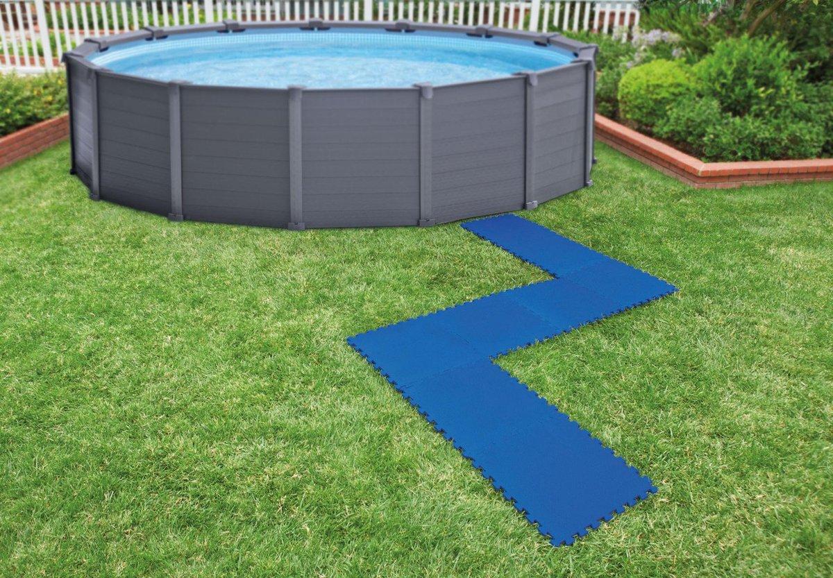 Intex Vloertegels - 8 Stuks 50x50 cm blauw
