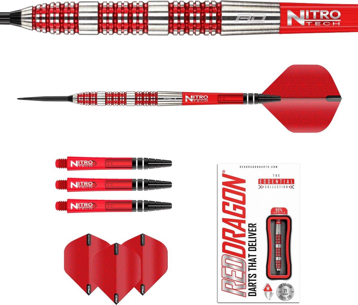 RED DRAGON - Ignite: Steeltip Tungsten Dartpijlen Professioneel - 25 gram