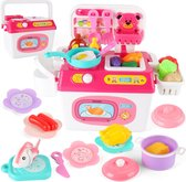 Buxibo DIY Speelgoed Keukenset - Complere Keuken Speelgoedserie - Speelgoedeten/Kinderkeuken/Speelkeuken - 37x29x18cm