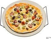 Pizzasteen met serveerrek (33 cm)