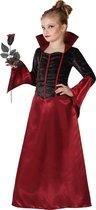 ATOSA - Zwart-rood vampieren kostuum voor meisjes - 134/146 (7-9 jaar)