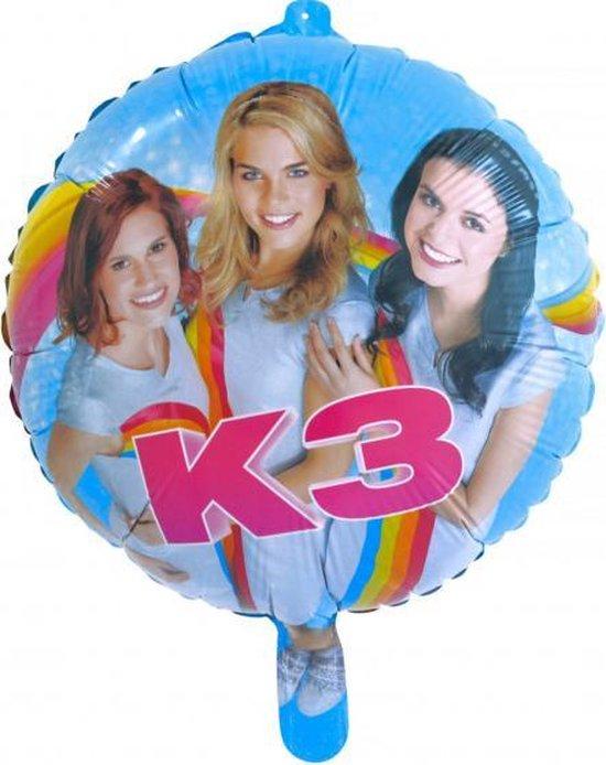 folieballon K3 Party meisjes 46 cm blauw/roze