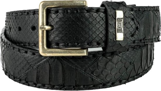 Mayura Riem 1020 Zwart 4cm Breed Verwisselbare Gesp Maat 95 cm (bovenkant gesp tot middelste gaatje)