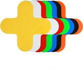 Kruis (X-stuk)   Oranje  180 x 180 mm - vloersticker met gladde toplaag