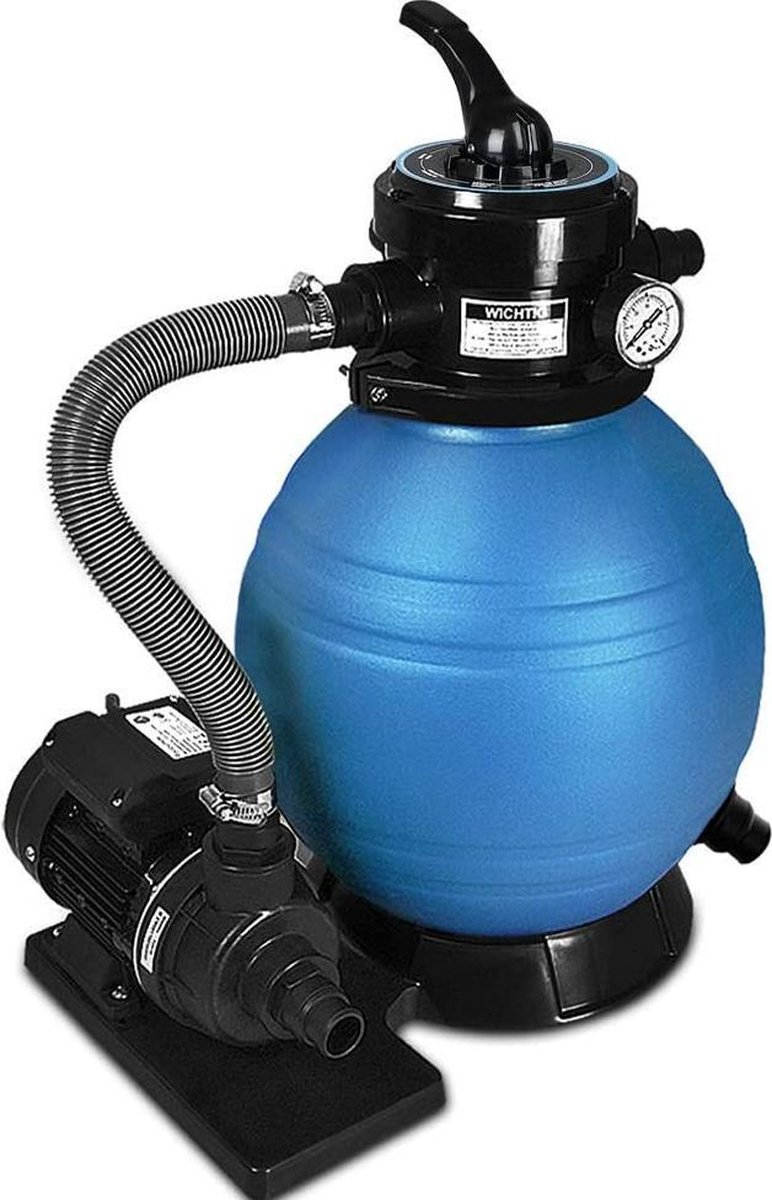 zwembad filter -sand filterpomp 10 m³ / h - poolfilter systeemfilterketel - (WK 02123)