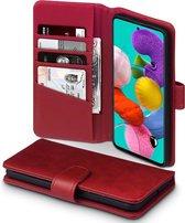 Samsung Galaxy A51 Bookcase hoesje - CaseBoutique - Effen Rood - Leer