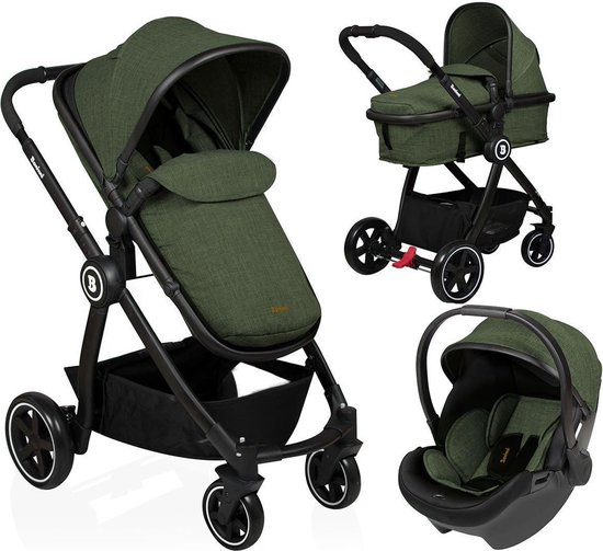 Product: Baninni Kinderwagen Otto - 3 in 1 - Olive Green, van het merk Baninni