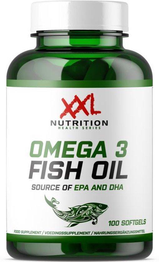 XXL Nutrition - Omega 3 Fish Oil - 100 softgels - Speciaal Voor Sporters