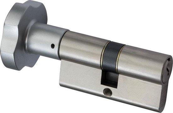 Nemef veiligheidknopcilinder 116/9 - Met knopbediening aan één zijde