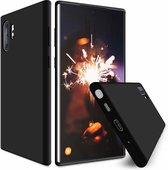 Shieldcase Silicone case Samsung Galaxy Note 10 Plus (zwart) + glazen screen protector