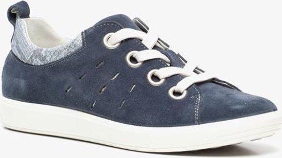 Natuform suede dames sneakers – Blauw – Maat 38