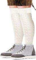 Oktoberfest - Oktoberfest - witte tiroler kousen / sokken voor heren