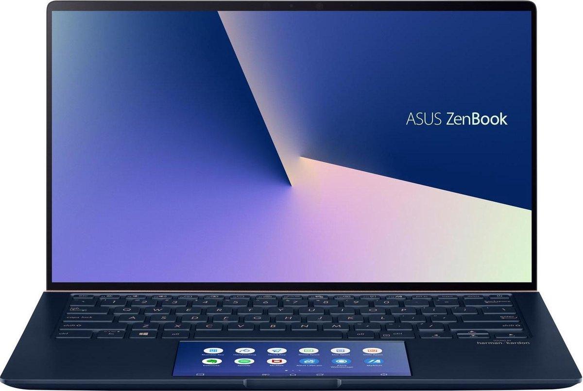 "ASUS ZenBook 14 UX434FLC-AI502T Notebook Blauw 35,6 cm (14"") 1920 x 1080 Pixels Touchscreen Intel® 10de generatie Core™ i7 16 GB LPDDR3-SDRAM 1000 GB SSD NVIDIA® GeForce® MX250 Wi-Fi 6 (802.11ax) Windows 10 Home"