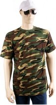 Army camouflage t-shirt korte mouw 2XL