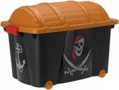 Piraten kist 60 x 40 x 42 cm - Kinderkamer piraat - Opbergkisten/opruimkisten/speelgoedkisten