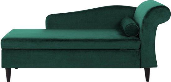 Beliani LUIRO - Chaise longue - Groen - Fluweel