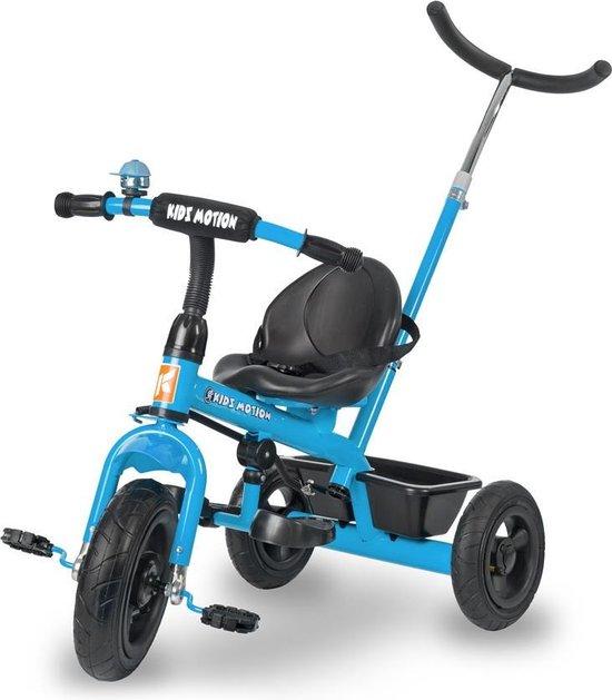 Product: HyperMotion - Driewieler met duwstang en luchtbanden - Blauw, van het merk Hyper Motion