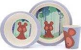 Yuunaa Bamboe Kinderservies - Bear