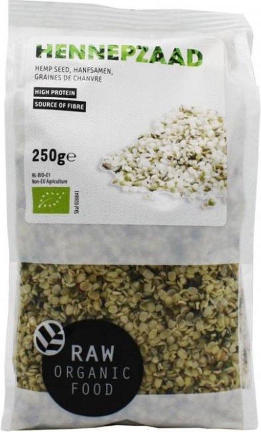 RAW Organic Food Biologische Hennepzaad (Doos van 8 verpakkingen van 250 gram)