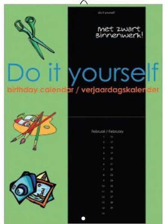 Verjaardagskalender Do it Yourself Black