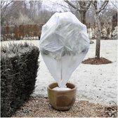 Plantenhoes tegen vorst met aantrekkoord wit H75 x D48 cm 30 g/m2 set van 3 stuks - Winterafdekhoes - Winterhoes voor planten - Anti-vorst beschermhoes planten - Vorstbescherming - Planthoes