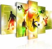 Schilderij - Energie - Voetbal , 5 luik