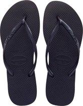 Havaianas Slim Dames Slippers - Zwart - Maat 39/40