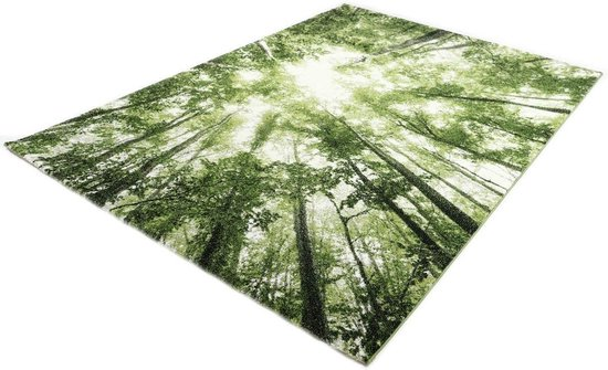 Merinos Bomen Desing Vloerkleed - Belis - 22103-40 Groen - 160x230 cm