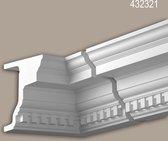 Binnenhoek Profhome 432321 Exterieur lijstwerk Hoeken voor Wandlijsten Gevelelement tijdeloos klassieke stijl wit
