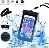 Neon Multi Functional Waterdichte telefoon hoesje Pouch Met headphone Audio Jack voor iPhone 7 / 7 Plus / SE / 6 / 6S / 6 Plus / 6S / S7 / S7 Edge / P9 Lite / S6 / S6 edge / S6 Edge / OnePlus 3 / Pixel XL / Pixel / A510 / J510 / Zwart