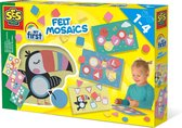 SES My first - Hobbypakket - Vilt mozaïeken - Knutselen voor kinderen