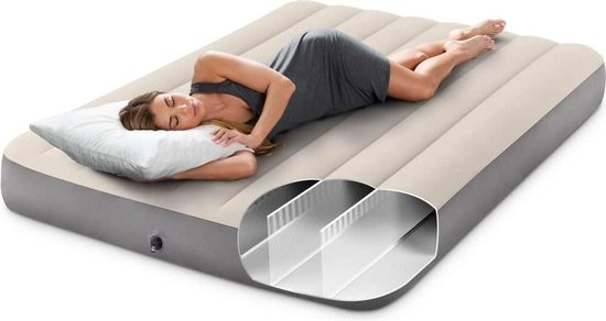 Intex Luchtbed Deluxe Single High 64708