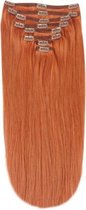 Remy Human Hair extensions Double Weft straight 16 - rood 350#