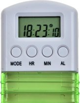 Medicijndoos met handige schuifdeksel, 7 vakken en 7 tril- en/of geluid alarmen