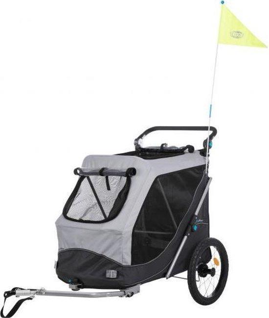 Trixie hondenfietskar opvouwbaar grijs 103x74x95 cm