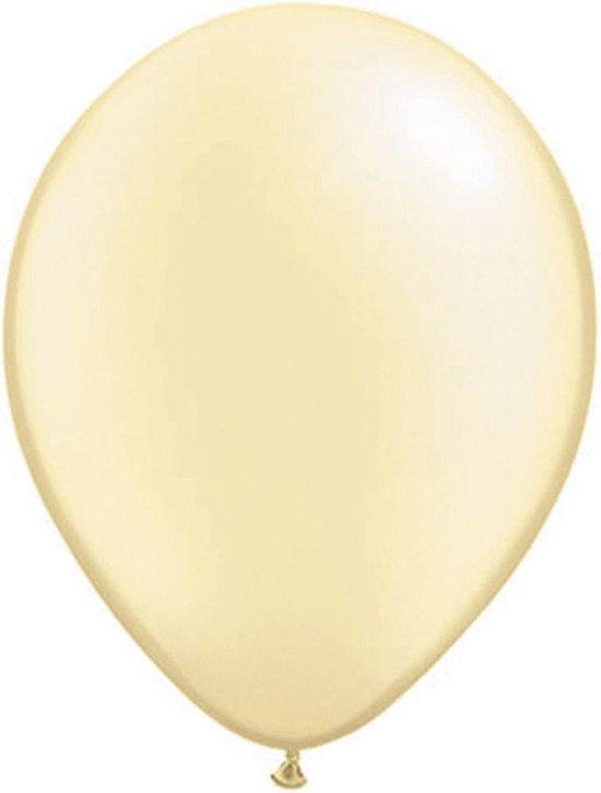 Folat Ballonnen Pearl Ivory 13 Cm Latex Ivoorwit 100 Stuks