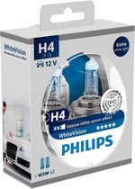 Philips WhiteVision Set H4 incl 2 W5W 12342WHVSM