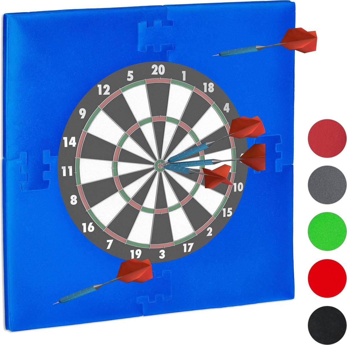 relaxdays dartbord surround ring - beschermrand - beschermring - ring voor dartbord - 45cm blauw